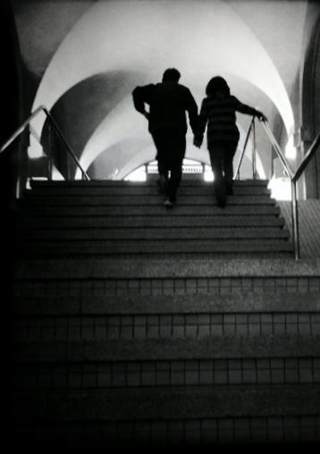 Photo: Holding Hands at Waterfront Station, by Guacira Naves