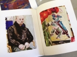 Book: Live Forever: Elizabeth Peyton. Left: Matthew, 2008, oil on board. Right: Flowers and Diaghilev, 2008, oil on linen over board.
