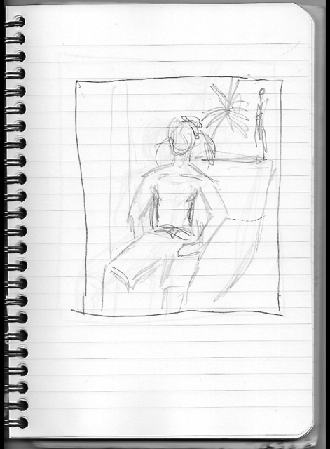 Man with Plant - sketch 2
